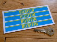 "Bilstein Shock Absorbers Blue & Yellow Oblong Stickers. Set of 4. 6""."
