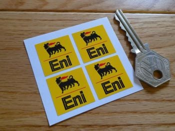"Eni Yellow Stickers. Set of 4. 1""."