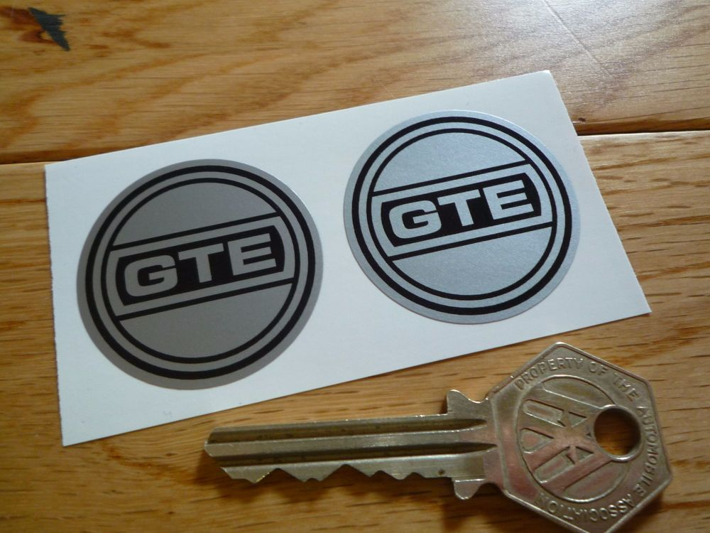 Reliant GTE Wheel Centre Style Stickers. 36mm Pair.