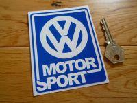"VW Motorsport Blue & White Sticker. 4""."