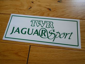 "TWR Jaguar Sport Oblong Sales & Service Workshop Sticker. 23.5""."