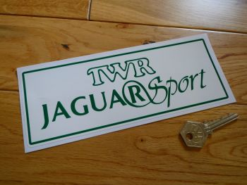 "TWR Jaguar Sport Oblong Sticker. 8""."