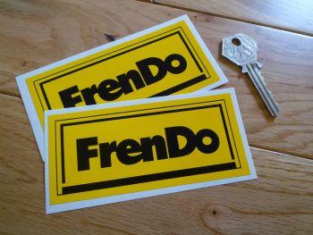 "Frendo Black & Yellow Oblong Stickers. 4.5"" Pair."