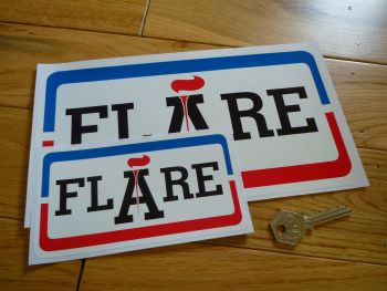 "Flare Petroleum Gas Pump Sticker. 6"", 10"", or 12""."