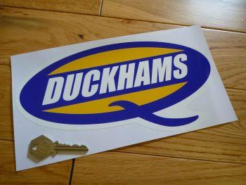 "Duckhams 'Q' Shaped Sticker. 10""."