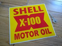 Shell X-100 Motor Oil Race Car, Service Station Workshop Sticker. 8