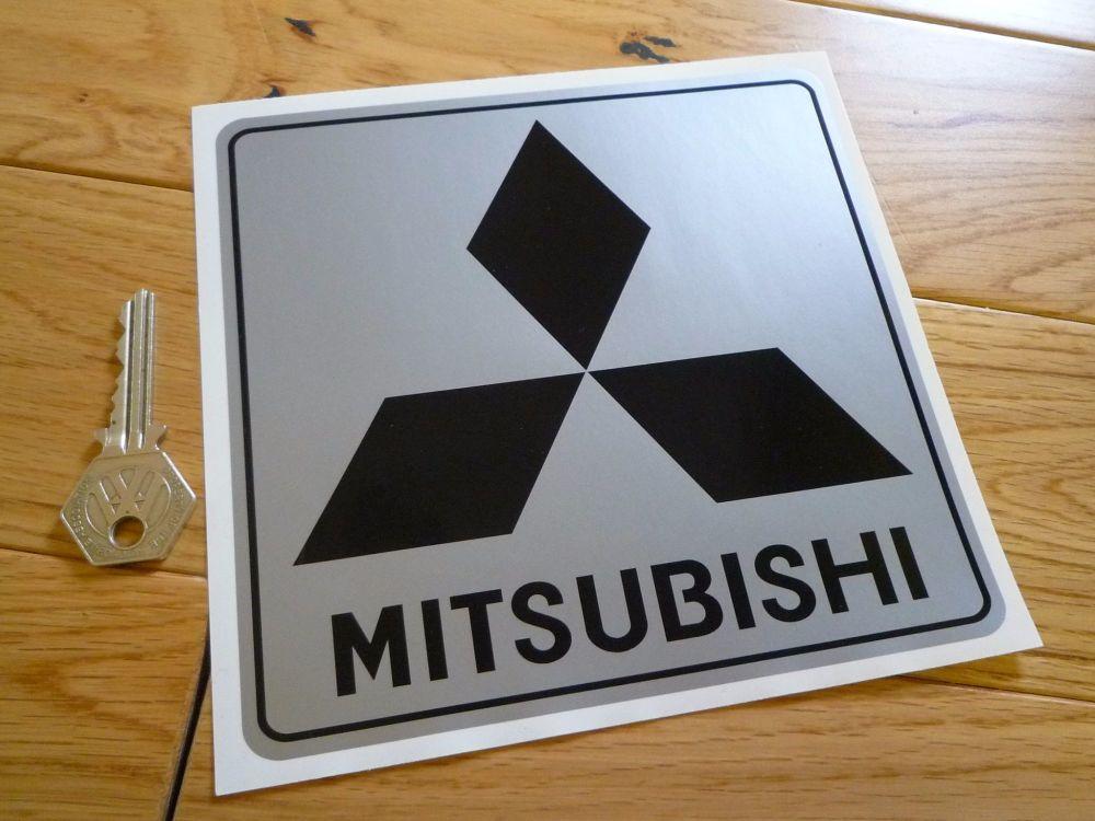 """Mitsubishi Black & Silver Sticker. 6"""" or 8"""""""