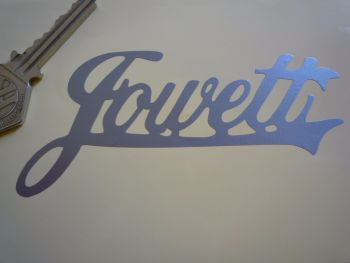 "Jowett Cut Text Style Sticker. 4.5""."