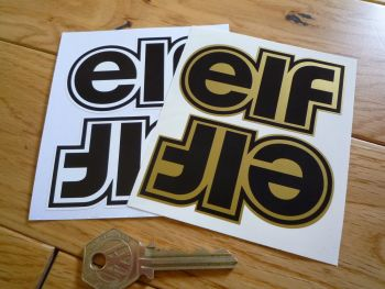 "Elf Shaped Text Stickers. 3"" or 7"" Pair."