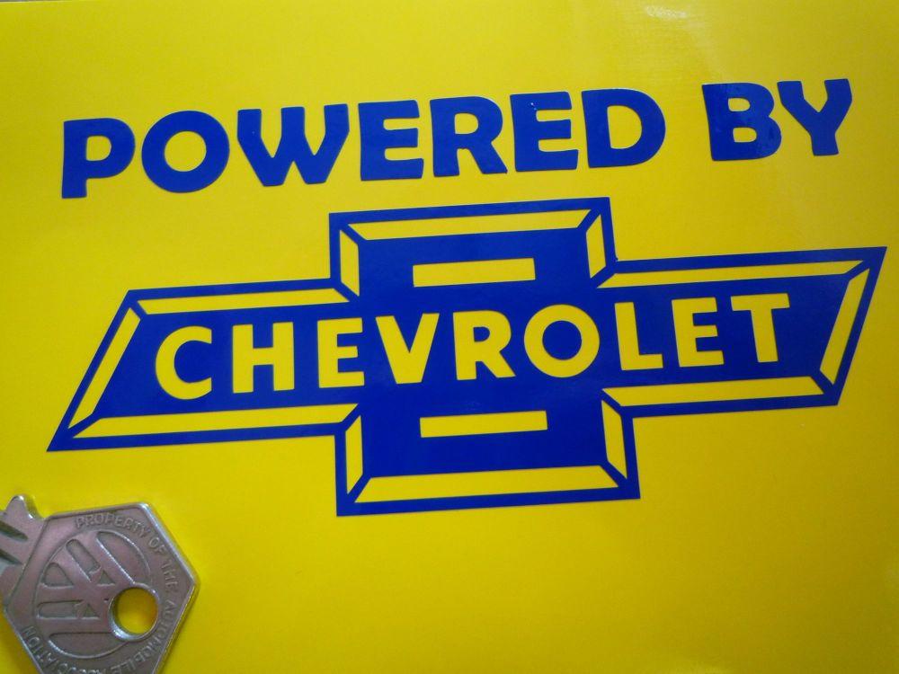 Powered By Chevrolet Cut Vinyl Sticker. 5