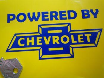 "Powered By Chevrolet Cut Vinyl Sticker. 5""."