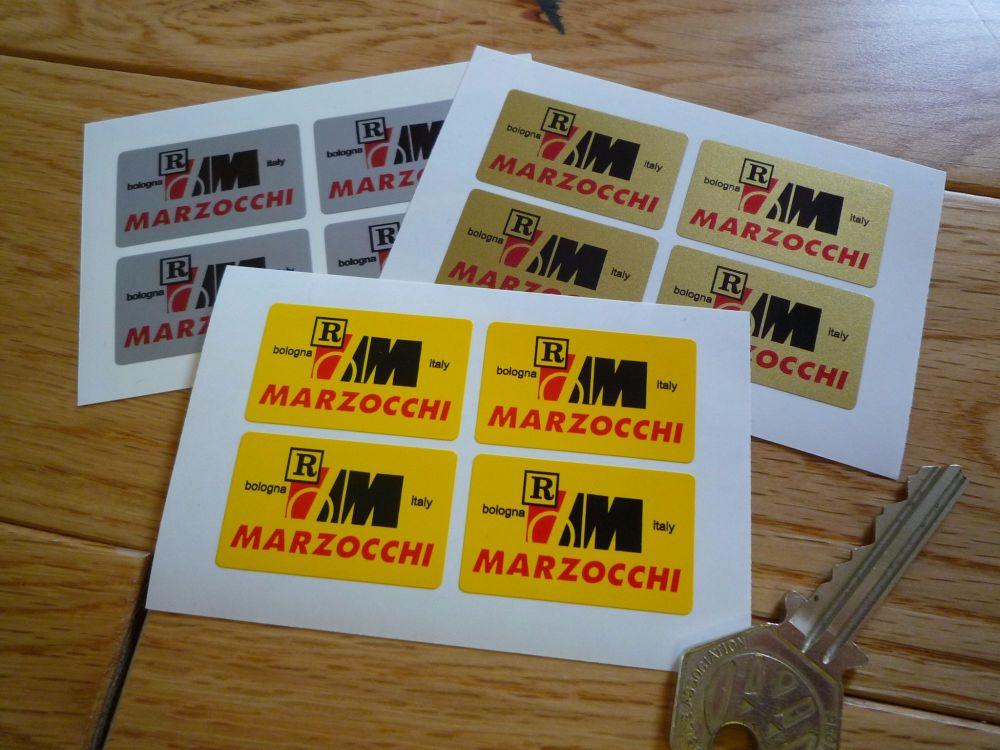 Marzocchi Bologna Italy Sticker. Set of 4. 1.5