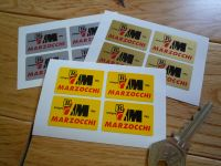 Marzocchi Bologna Italy Sticker. Set of 4. 1.5