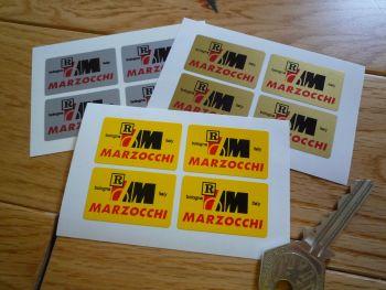 "Marzocchi Bologna Italy Sticker. Set of 4. 1.5""."