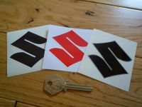 Suzuki Shaped S Stickers. 2.5