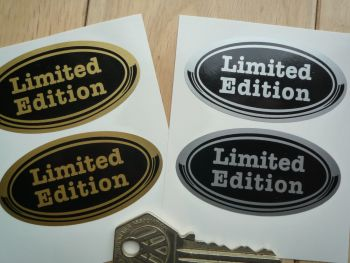"Limited Edition Oval Stickers. 2.5"" Pair."