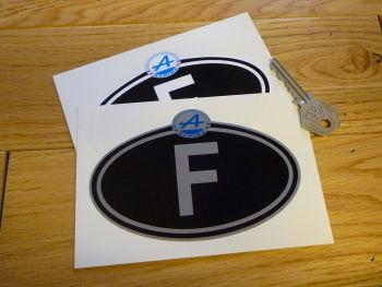 "Alpine Logo Nationality Country ID Plate Sticker. 5""."