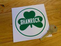 "Shamrock Circular Logo Sticker. 4""."
