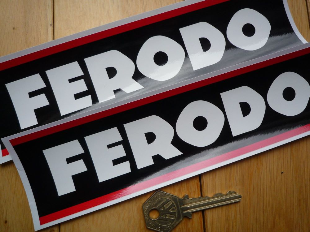 "Ferodo Style 4 Oblong Stickers. 8.25"" Pair."