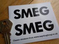 Smeg Black & White Oblong Stickers. 3