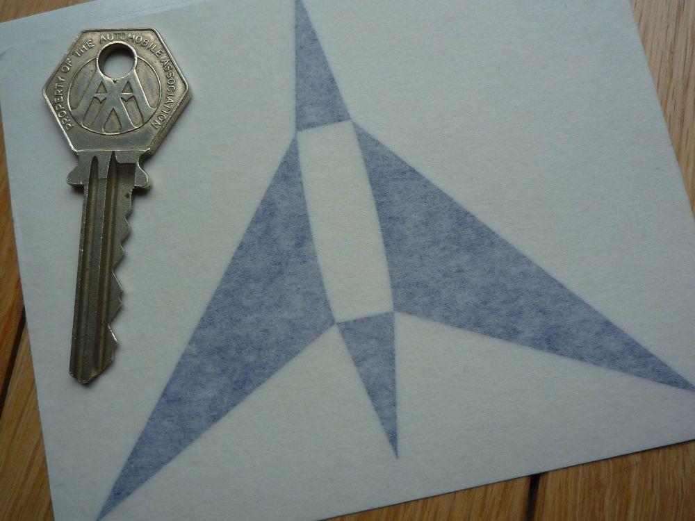 "Aral German Fuel Jet Plane Style Cut Vinyl Sticker. 4""."