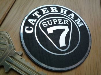 Caterham Super 7 Self Adhesive Car Badge. Silver or Gold. 60mm.