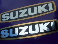 Suzuki GT750 550 etc Series Alternator Engine Case Gold Border Sticker. 80mm.