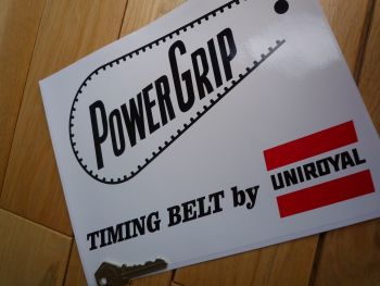 "Uniroyal Power Grip Timing Belt by Uniroyal Sticker. 9""."