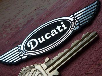 """Ducati Wings Laser Cut Self Adhesive Badge. 3.5""""."""
