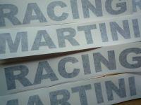 "Martini Racing Cut Text Style Sticker. 22""."