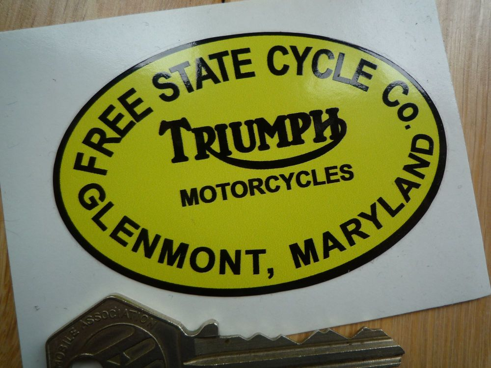 """Free State Cycle Co. Motorcycle Dealers Sticker. 3""""."""