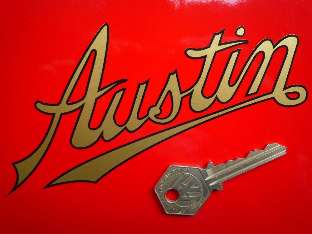 "Austin Old Style Script Text Cut Vinyl Sticker. 3"" or 6""."