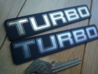 Turbo Laser Cut Turbocharged Self Adhesive Car Badge. 4.5