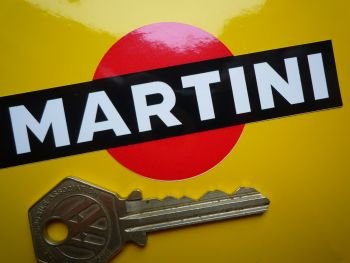 "Martini Logo Stickers. Black with No Outline. 3.75"" Pair."
