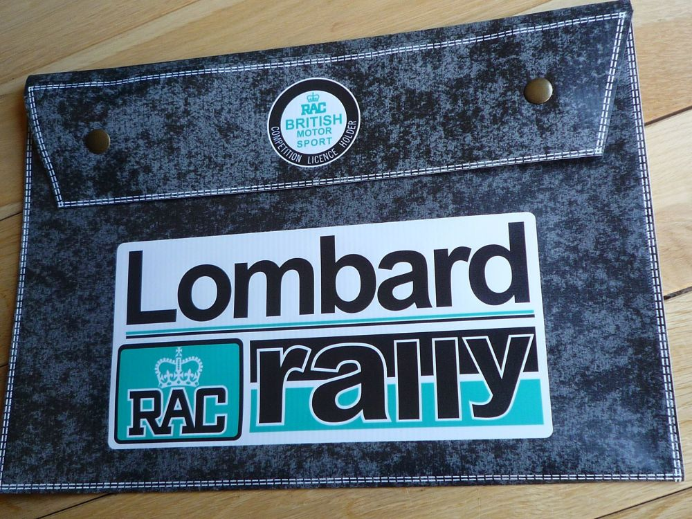 """RAC Lombard Rally GB Black Document Holder/Light Toolbag for A4 size. 14""""."""