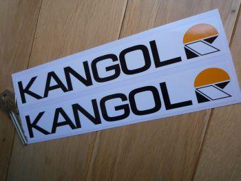 "Kangol Helmets Oblong Shaped Stickers. 8"" Pair."
