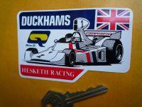 Hesketh Racing Duckhams F1 Formula One James Hunt Sticker. 4