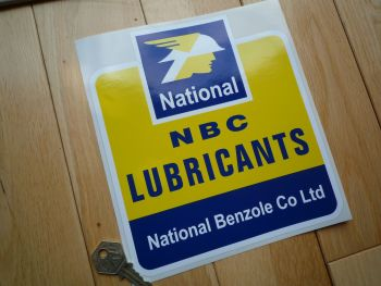 "National Benzole NBC Lubricants Shaped Sticker. 8""."