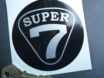 Lotus Caterham Westfield Super 7 Round Sticker. 90mm.
