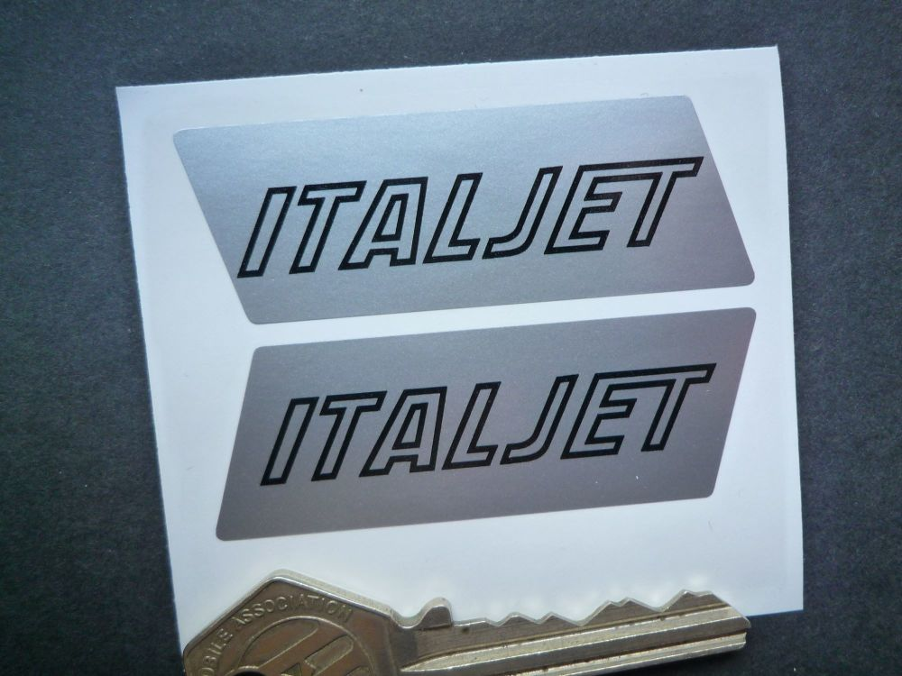 Italjet Engine Case Stickers. 63mm Handed Pair.