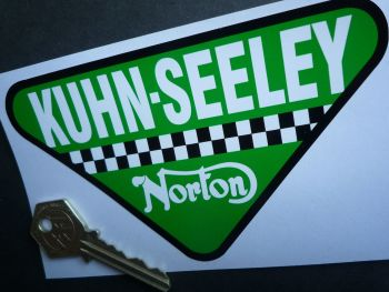 "Norton Kuhn-Seeley Triangular Sticker. 5.5""."