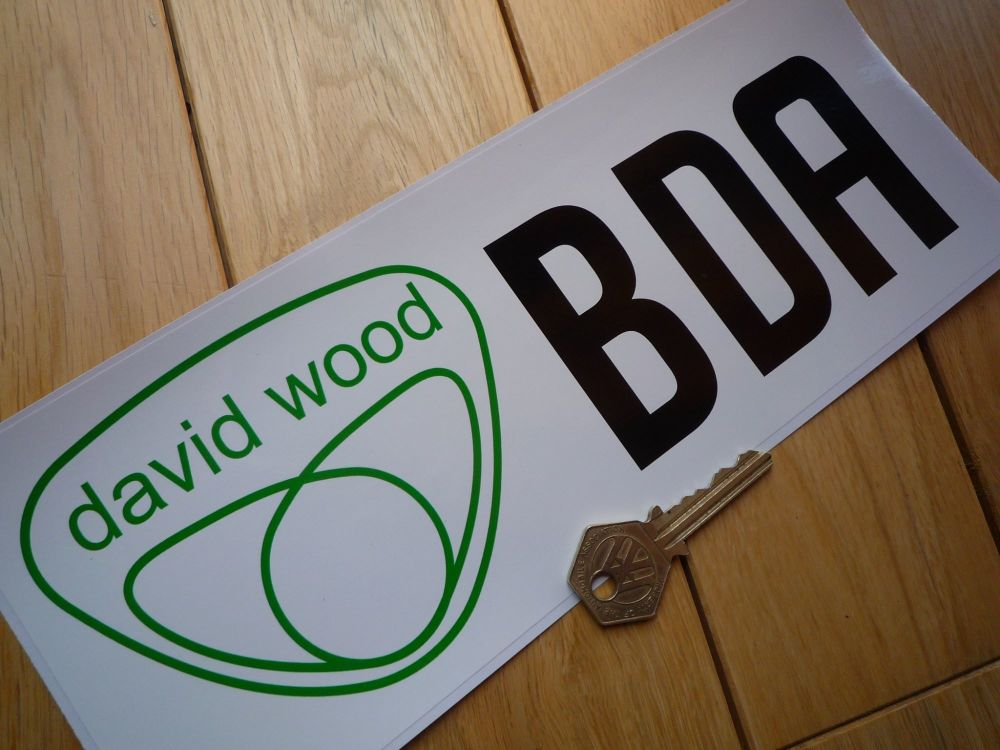 "David Wood Escort RS1600 Ralt Tiga etc. BDA Engine Group 2 Cosworth Sticker. 10.75""."