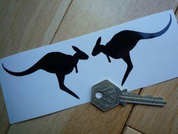 """Kangaroo Style Stickers. 3"""" Pair."""
