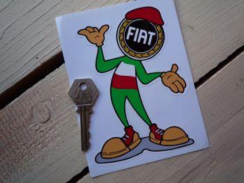 """Fiat Happy Chappy Sticker. 5"""""""