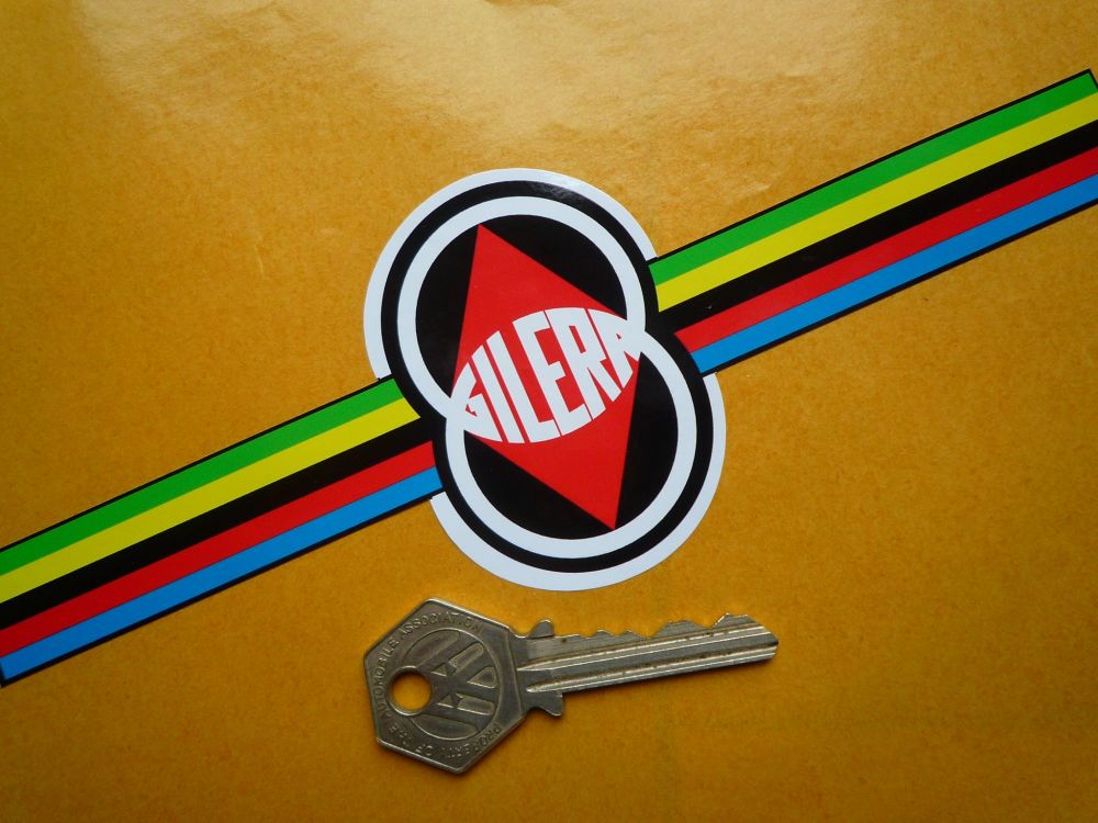 """Gilera Multi-Coloured Band Sticker. 8""""."""