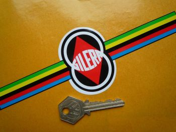 "Gilera Multi-Coloured Band Sticker. 8""."