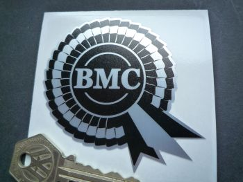 "BMC Black & Brushed Foil Rosette Sticker. 3""."