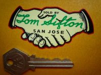"Tom Sifton Harley Davidson San Jose California Dealer Sticker. 3""."