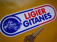 Ligier Gitanes Rounded Oblong Formula One Sticker. 6