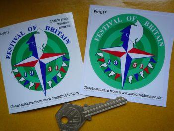 "Festival of Britain 1951 Car or Window Sticker. 2.5""."